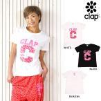 CLAP(クラップ) レオ Tシャツ|ヒョウ柄のロゴがモチーフの超かわいいのCLAPロゴティーシャツ