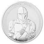 [カプセル・保証書付き] 2021年 (新品)「スターウオーズ・マンダロリアン」純銀 1オンス 31.1グラム 銀貨