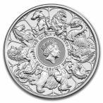 2021年 (新品) クィーンズ ビースト「コンプリーター」イギリス・2 オンス 62.2グラム 純銀 銀貨・カプセル入り・保証書付き
