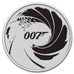 [保証書・カプセル付き] 2022年 (新品) イギリス「ジェームズ・ボンド・007」31.1グラム 1オンス 純銀 ブラックカラー 銀貨