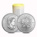 [ミントロール入り・保証書付き] 2021年 (新品) カナダ メイプルリーフ 5ドル 1オンス 銀貨【25枚】