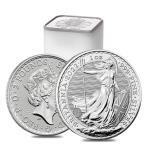 [ミントロール入り・保証書付き] 2021年 (新品) 31.1グラム 純銀 イギリス ブリタニア 1オンス 銀貨【25枚】