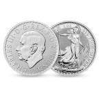 [保証書・カプセル付き] 2021年 (新品) 31.1 グラム 純銀 イギリス ブリタニア 2ポンド ・1オンス 銀貨