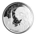 [保証書・カプセル付き] 2021年 (新品) ガーナ共和国「宇宙人・エイリアン」純銀 1オンス 銀貨