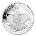 [保証書・カプセル付き] 2021年 (新品) ソマリア・ワイルドライフ・アフリカ・ゾウ・1オンス 銀貨
