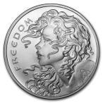 [保証書・カプセル付き] (新品) アメリカ「自由の少女」1オンス 31.1グラム 99.9% 純銀 銀貨 コイン