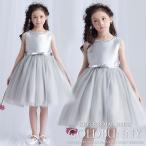 子供ドレス ピアノ発表会 ドレス グレー キッズ ドレス チュールドレス フォーマル 結婚式 お呼ばれドレス 子どもドレス女の子