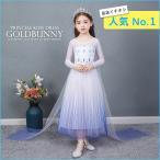 アナと雪の女王2 新作 エルサ 風 半袖 子供用 ドレス アナ雪 コスプレ 衣装 コスチューム ワンピース キッズ かわいい おすすめ 高級