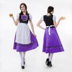 ハロウィン ビールガール ドイツ 民族衣装 メイド ディアンドル チロリアン パーティー イベント コスプレ衣装 ps2282(ps2282)