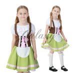 ハロウィン キッズ 子供服 ビールガール ドイツ メイド 民族衣装 コスプレ衣装 ps2711(ps2711)