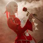 Fate/Extra フェイト/エクストラ Red Saber 赤セイバー コスプレ衣装 wow239【送料無料】