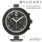 送料無料 BVLGARI ブルガリ ディアゴノ アルミニウム ラバーベルト 腕時計 メンズ AC38TA 自動巻き ウォッチ カーボン文字盤 中古