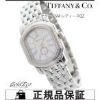 ティファニー マーククーペSM レディース腕時計 クォーツ シルバー文字盤 SS ローマンインデックス QZ 17093355 中古 Tiffany&Co