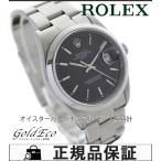 美品 ROLEX ロレックス オイスター パーペチュアルデイト ref.15200 メンズ腕時計 オートマチック ステンレス ブラック文字盤 中古