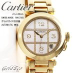 カルティエ パシャ 自動巻き 腕時計 メンズ グリッドダイヤ文字盤 18K 750 無垢  ゴールド CC723106 103536mm ダイヤモンド AT 中古 Cartier 送料無料
