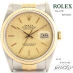 ロレックス デイトジャスト メンズ 腕時計 自動巻き シルバー イエローゴールド ref.16234 サファイヤガラスデイト機能 中古 ROLEX