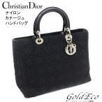 クリスチャン ディオール レディディオール カナージュ ハンドバッグ ブラック ナイロン RU0949 中古 レディース 黒 Christian Dior