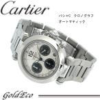 カルティエ パシャC クロノグラフ  腕時計 メンズ オートマティック 自動巻き W31048M7 シルバー ブラック 中古 Cartierステンレス