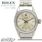 ロレックス オイスター パーペチュアル レディース 腕時計 自動巻き シルバー 文字盤 ref.6623 ステンレススティール 中古 ROLEX 新品仕上げ オーバーホール済