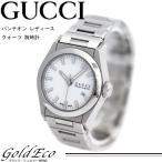 GUCCI グッチ パンテオン レディース クォーツ 腕時計 中古 115.5 シルバー ホワイト文字盤 ステンレス 電池式