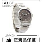 GUCCI グッチ パンテオン YA115424 SS デイト ブラウン文字盤 シルバーメンズ QZ 腕時計 未使用 美品 中古