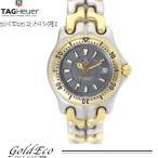 タグ・ホイヤー セルシリーズ プロフェッショナル レディース 腕時計 クォーツ WG1320-2 SS/GP デイト ダイバー グレー文字盤 QZ 中古 TAG HEUER
