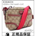 COACH【コーチ】未使用 ヘリテージ シグネチャー PVC ショルダーバッグ F47343 ベージ...