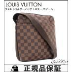 ショッピングVUITTON ルイヴィトン ダミエ ショルダーバッグ トロター ボブール N41135 バッグ 斜め掛け ブラウン レディース メンズ 美品 中古 LOUIS VUITTON
