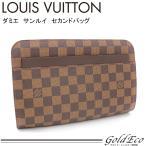 ルイヴィトン ダミエ エベヌ サンルイ セカンドバッグ N51993 茶色 メンズ レディース 中古 LOUIS VUITTON