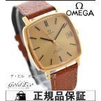 OMEGA オメガ デビル アンティーク メンズ腕時計 自動巻き ゴールド GP レザーベルト(社外)ライトブラウン 中古