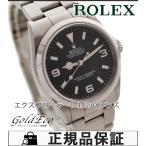 美品 ロレックス エクスプローラー1 ref.114270 メンズ腕時計 A番 自動巻き ブラック文字盤 シルバー ステンレス 中古 ROLEX