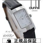 Dunhill ダンヒル ダンヒリオン レディース腕時計 クォーツ ローマンインデックス  ホワイト文字盤 SS/レザーベルト 中古