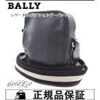 BALLY バリー レザー ショルダーバッグ ストライプ柄ショルダー キャンバス ブラック/ホワイト 斜め掛け 中古