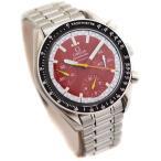 美品 OMEGA オメガ スピードマスター ミハエルシューマッハ メンズ 腕時計 レーシング クロノグラフ オートマ SS/レッド文字盤 3510.61 中古