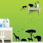 ウォールステッカー アフリカ 動物 ゾウ ライオン キリン 北欧 アニマル どうぶつ