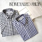 ショッピングINDIVIDUALIZED インディビジュアライズドシャツ ギンガムチェックシャツ STANDARD FIT スタンダードフィット INDIVIDUALIZED SHIRTS