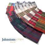 [タイムセール 12/12(月)朝8:59まで] Johnstons ジョンストンズ カシミア マフラー WA000016 チェック ストール ロング タータンチェック フリンジ