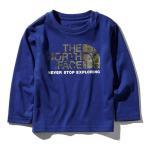 ショッピングnorth THE NORTH FACE ザ ノースフェイス カモロゴ ロンT NTJ81824 長袖Tシャツ キッズ ベビー