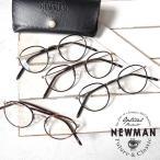 NEWMAN ニューマン LENNY レニー セル巻き ボストンメガネ  伊達メガネ 黒縁 眼鏡 メンズ レディース