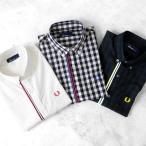 [タイムセール 12/8(金)朝8:59まで] FRED PERRY フレッドペリー 前リブ チェックシャツ ドットシャツ F4385 半袖シャツ メンズ