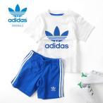 [最大2,000円クーポン発行中 5/1(月)9:59終了] adidas アディダスオリジナルス セットアップ ジャージ BJ9050 MKZ93 Tシャツ ショーツ キッズ ベビー