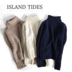 ショッピングタートルネック [TIME SALE 12/25(月)9:59終了] ISLAND TIDES アイランドタイド タートルネックセーター ハイネック イギリス製 レディース