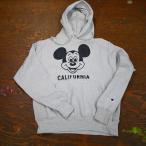 JACKSON MATISSE x MICKEY MOUSE x CHAMPION ジャクソンマティス ミッキーマウス チャンピオン CALIFORNIA HOOD カリフォルニア フード グレイ JZ17SS045