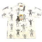 WEIRDO ウィアード COSTUMES SHIRTS コスチュームス シャツ 半袖 LUCKY RUDY メンズ レディース ナチュラル WRD-17SS-14