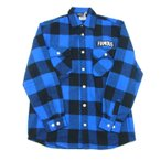 WORLD WIDE FAMOUS ワールドワイド フェイマス FB BFL SHIRT シャツ ネルシャツ チェック バッファローチェック 長袖 ブルー メンズ レディース