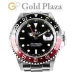 ロレックス ROLEX GMTマスター2 16760 R番台 赤黒ベゼル メンズ 腕時計 100m防水 自動巻 SS 黒文字盤 中古