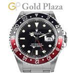 ロレックス ROLEX GMTマスター2 16710 S番 赤黒ベゼル ステンレス メンズ 腕時計 自動巻 ブラック文字盤 中古