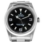 ロレックス エクスプローラー1 14270 U番 メンズ 腕時計 自動巻き SS 黒文字盤