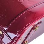 ルイヴィトン LOUIS VUITTON ハンドバッグ ヴェルニ アルマBB M91771 ストラップ付 ローズアンディアン 2WAY 中古