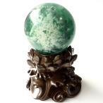 エンジェルフェザー フローライト 丸玉 直径 約45mm 台座付き 蛍石 天然石